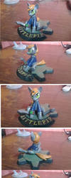 Littlepip finished sculpture comision by saxumsando