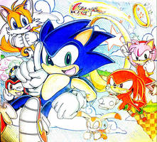 SONIC THE HEDGEHOG by Artfrog75
