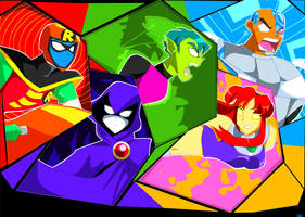 Teen Titans!! by Artfrog75