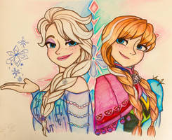 Anna and Elsa by Artfrog75