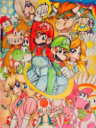 Super Mario Brothers by Artfrog75