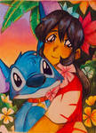 LIL0 AND STITCH!!! by Artfrog75