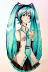 Hatsune Miku by Artfrog75