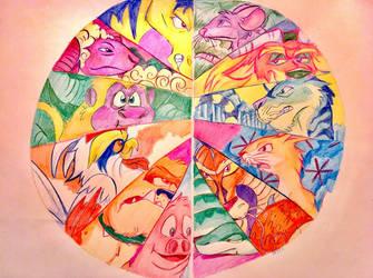 Chinese Zodiac Art by Artfrog75