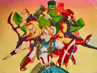 The Avengers anime by Artfrog75