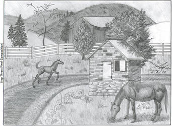 Horsie Ranch by LilClaw