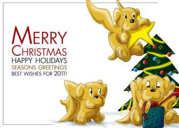 Christmas 2010: Walrus Puppies by DeadWizard