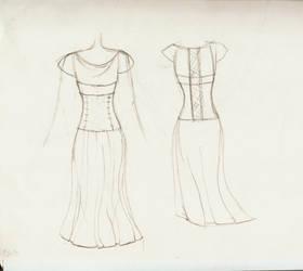Dress Sketch by DeadWizard