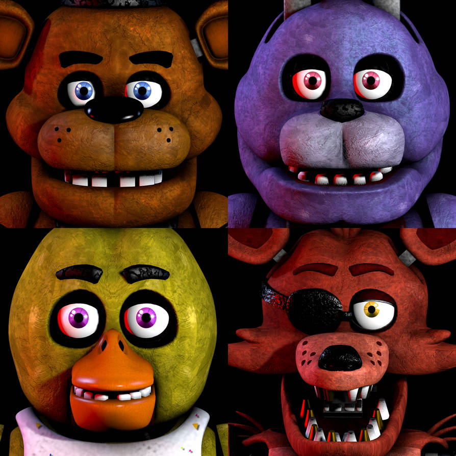 [FNaF SFM]FNaF 1 Icon But With All Main Characters By