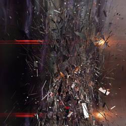 Disintegration:  Fractured Matter by inkydigit