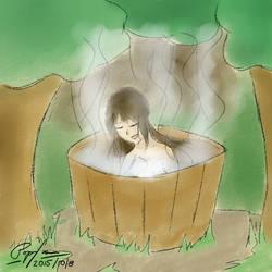 Reimu takes a bath by popfan95b