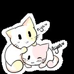 Nya and Nyan by ChocolateJuju
