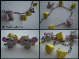 mice and cheese bracelet by Shatya