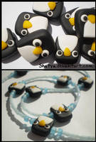 Fimo penguins by Shatya