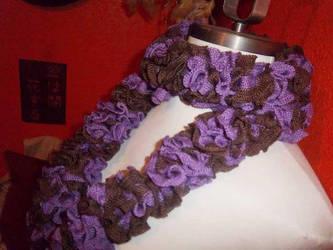 Scrunchyliciousness Purple Truffle Scarf by GrumpyBrosCrafts