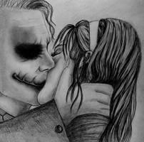 'Kissing Joker'  REQUEST by AngelasPortraits