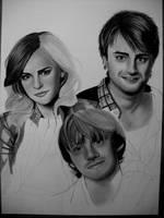EMMA, DANIEL AND RUPERT WIP by AngelasPortraits