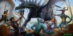 Battle Scene by Luis-Salas