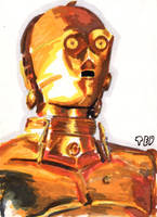 C-3PO sketch card by tdastick