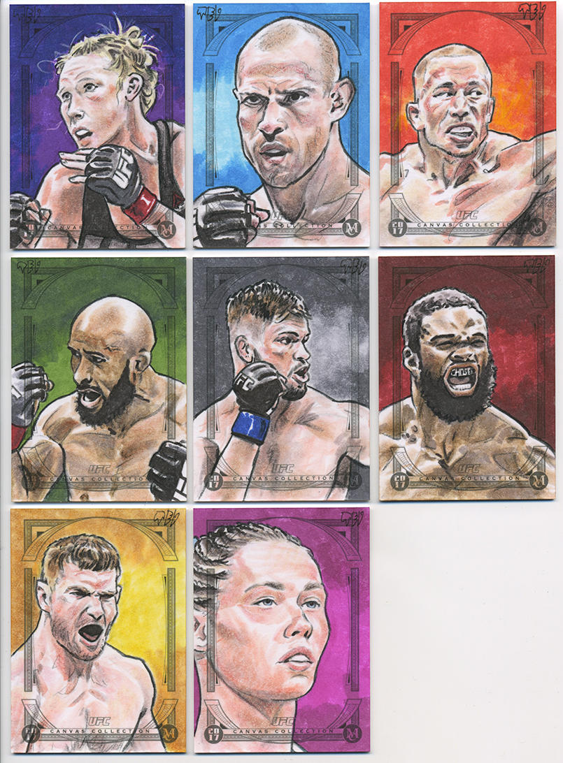2018 UFC Canvas Collection - 04 by tdastick