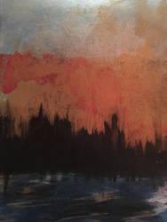 Sunset over Manhattan  by meggreer
