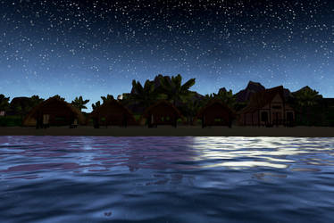 Night Time On Wahoo beach 2 by Pumpkin-Days-Game