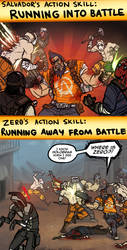 Zer0 and Salvador's Action Skills by Jackarais