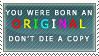 Born an Original Stamp by RiniWonderland