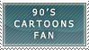 90's CARTOONS FAN stamp by RiniWonderland