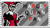 Harley Quinn Fan Stamp by RiniWonderland