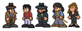 Lupin Gang and Zenigata by penguintruth