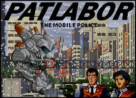 Patlabor 2 The Movie Title Card by penguintruth