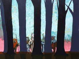 Ewoks in the Trees by TrampLamps