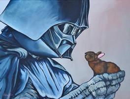 Darth Vader with little Brown Bunny by TrampLamps