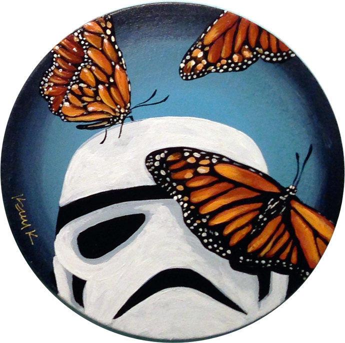 Stormtrooper Butterflies Series 5/9 by TrampLamps