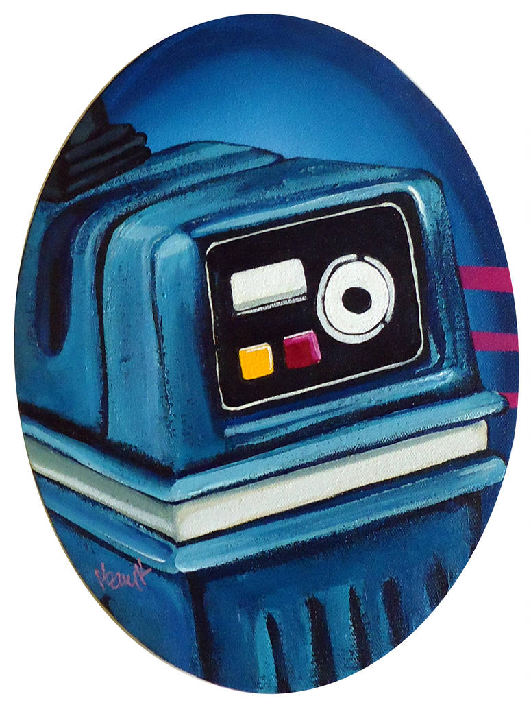 Service with a Smile (Server Robot from Star Wars) by TrampLamps