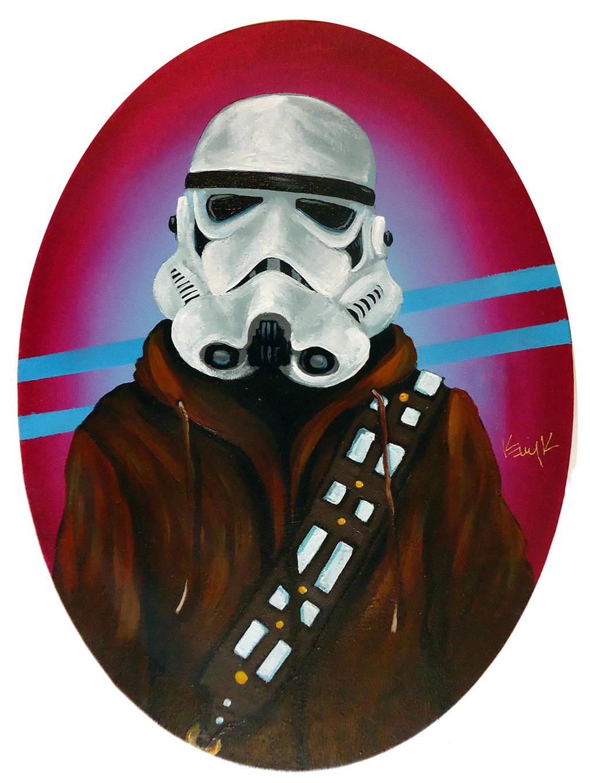 Stormtrooper with Wookie Hoodie by TrampLamps