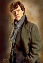 Benedict Cumberbatch (Sherlock Holmes) by comy1982