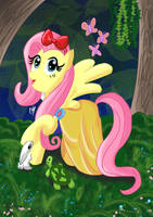 Disney Princess Fluttershy (Snow White) by KarToon12
