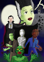 Universal Monsters by KarToon12