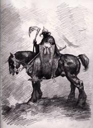 Frazetta's Death Dealer by myconius