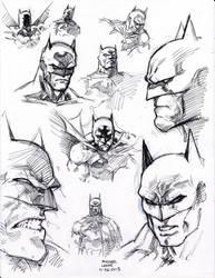 Jim Lee Batman Studies 11-26-2013 by myconius
