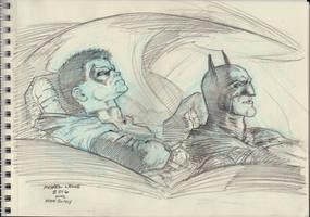 Damian Wayne and Dick Grayson 5-2-2016 by myconius