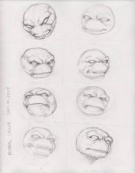 TMNT head study 9-14-2017 by myconius