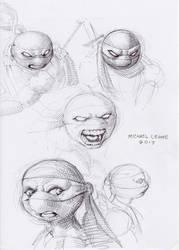 Santolouco TMNT pen sketch 9-26-2017 by myconius