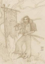 Samurai after Frederic Genet 10-9-2018 by myconius