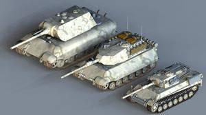 Heavy Prototype Tanks by 1Wyrmshadow1