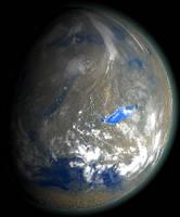 Marslike planet by 1Wyrmshadow1
