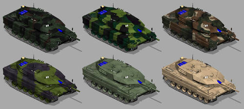 Leopard 2 tanks by 1Wyrmshadow1