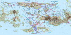 Venus Political Map WIP by 1Wyrmshadow1